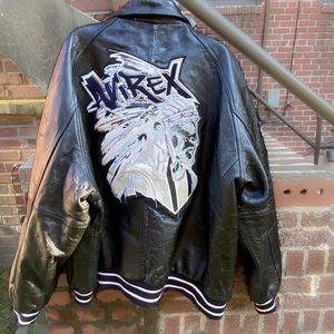Vintage 90s Avirex Leather Bomber Coat